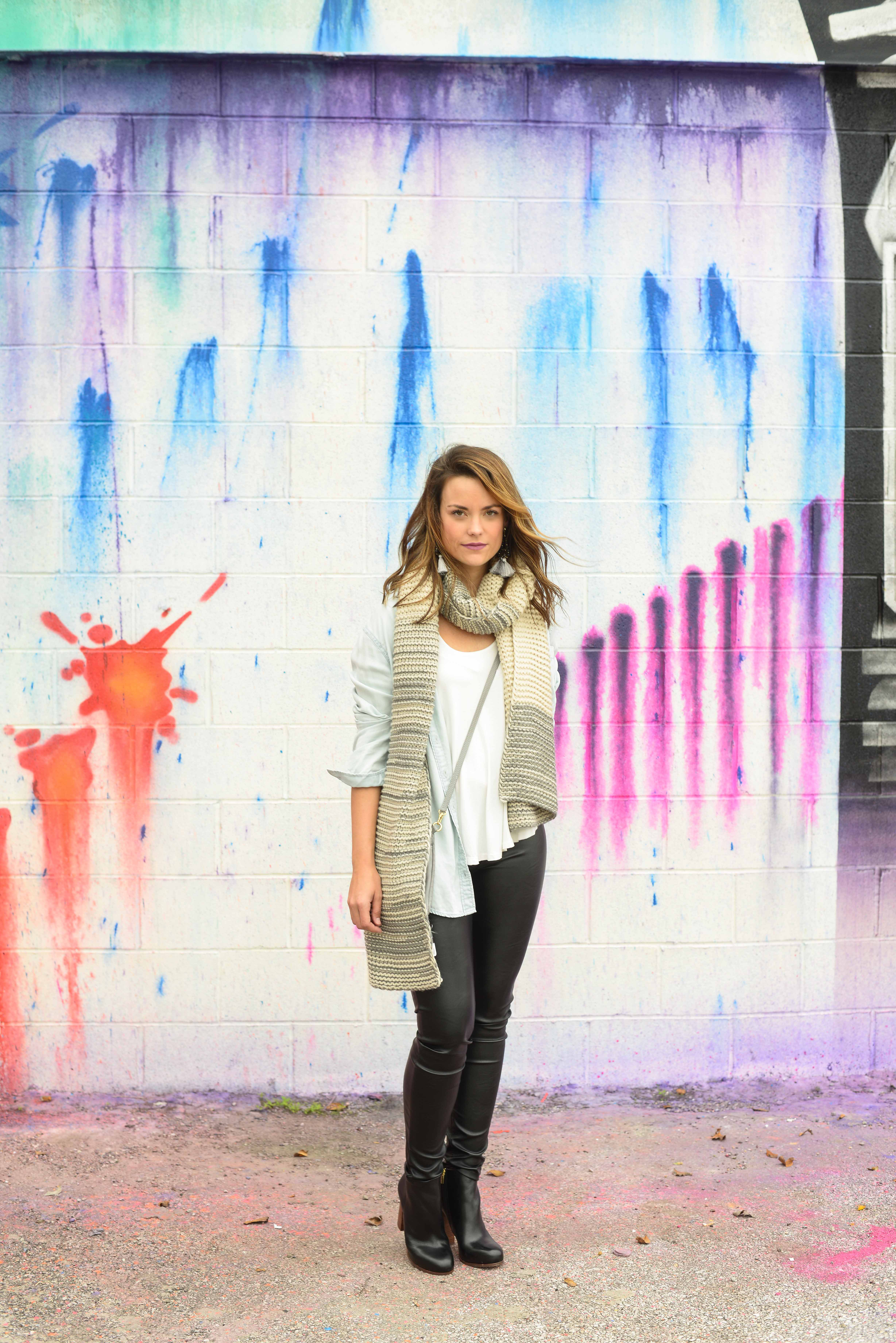 0016f22a0bb12d FAUX LEATHER LEGGINGS by popular Houston fashion blogger The Styled Fox ...