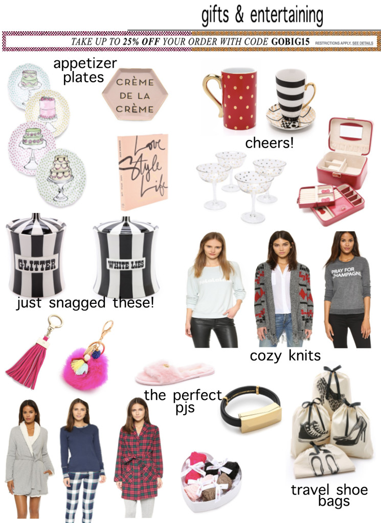 Shopbop Black Friday Sale Gifts and Entertaining