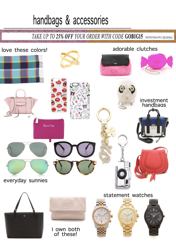 Shopbop Black Friday Sale Handbags and Accessories