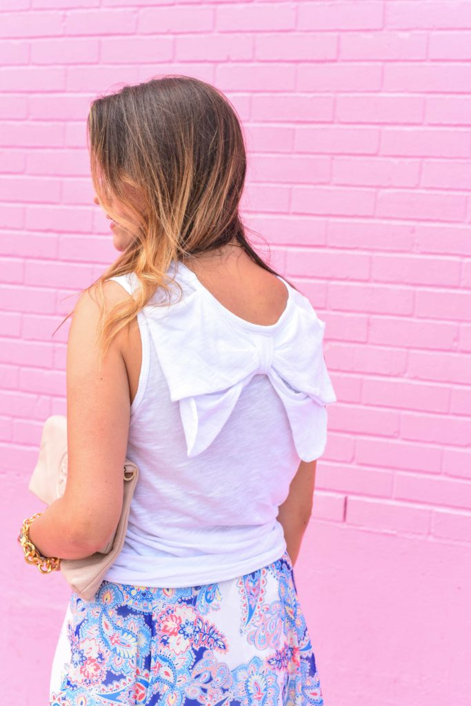 Anthropologie Bow Back Tank
