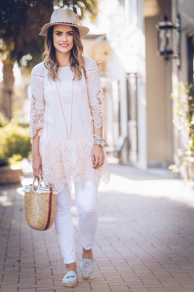 PEACH LACE TUNIC, ANTHROPOLOGIE Suboo Blythe Tunic