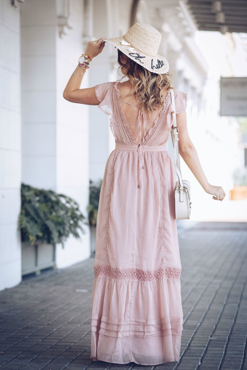 ADELYN RAE LACE MAXI DRESS
