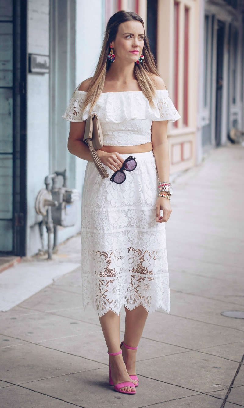 WAYF LACE TWO PIECE SET