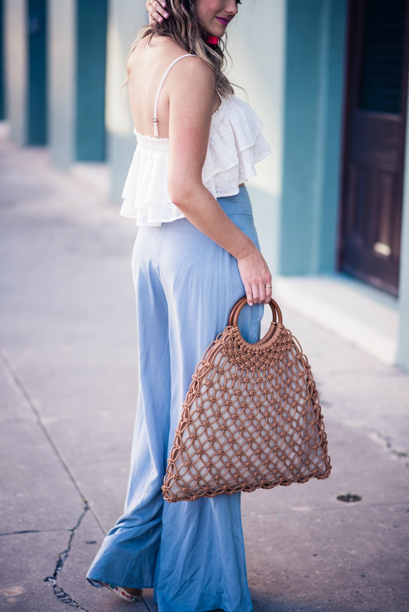 SHADES OF BLUE, ale by alessandra Joana Pants, TULAROSA Stella Crop Top
