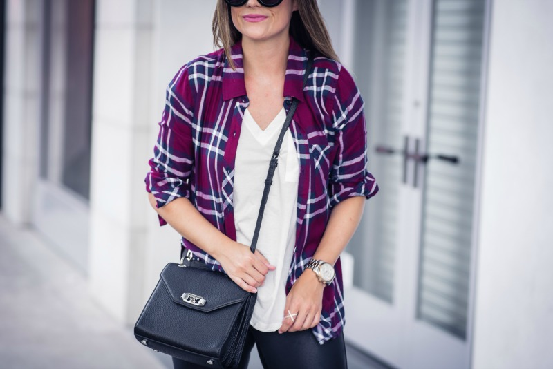 NSALE FAUX LEATHER LEGGINGS, NORDSTROM ANNIVERSARY SALE, Hunter Plaid Shirt