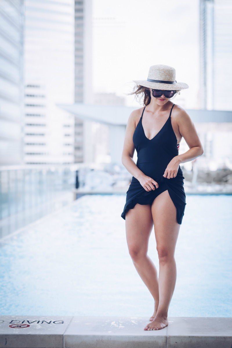 SUMMER SWIM WITH NORDSTROM, RED CARTER Woven Back One-Piece Swimsuit