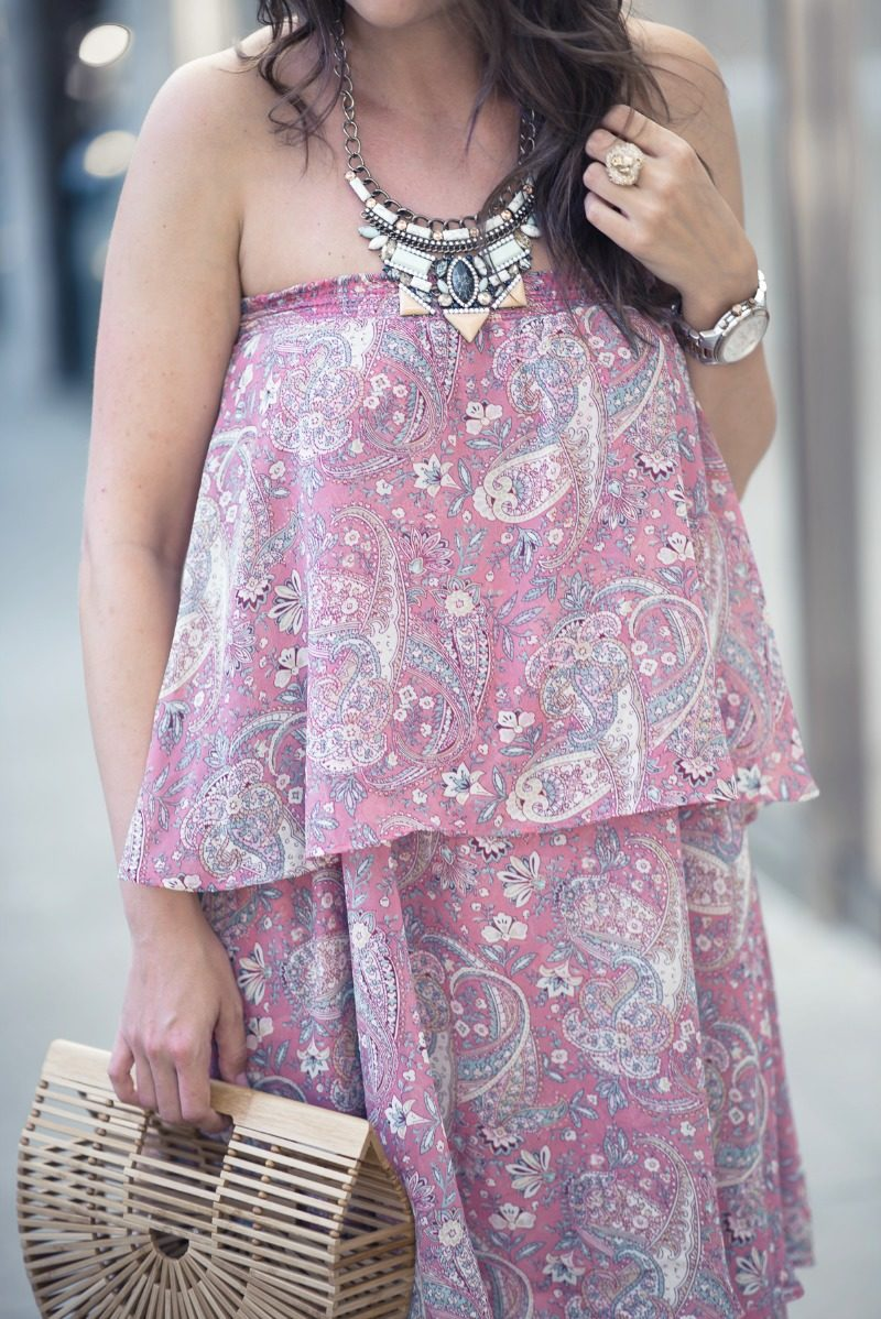 SHOW ME YOUR MUMU KARLA PAISLEY CONVERTIBLE STRAPLESS DRESS