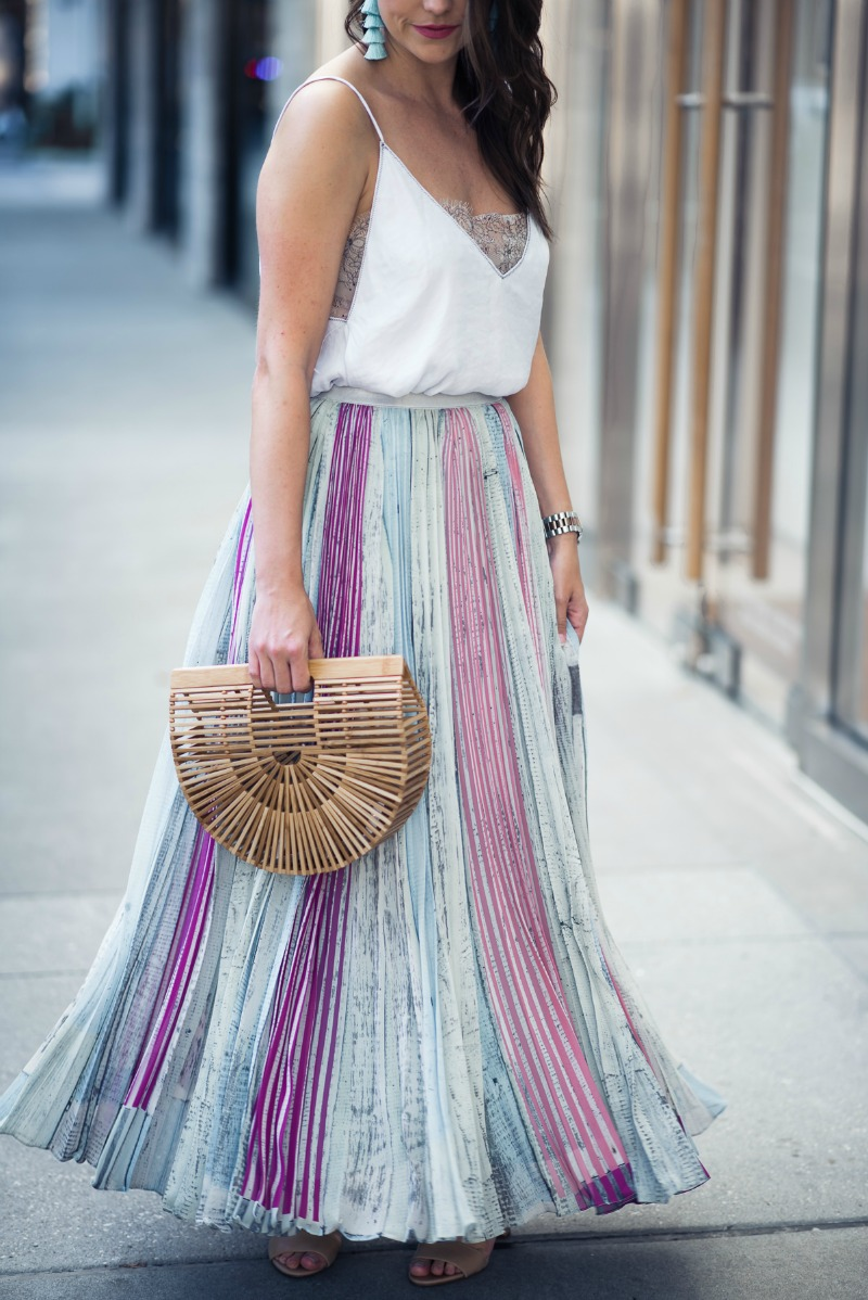 ANTHROPOLOGIE Geisha Designs LILY PLEATED SKIRT