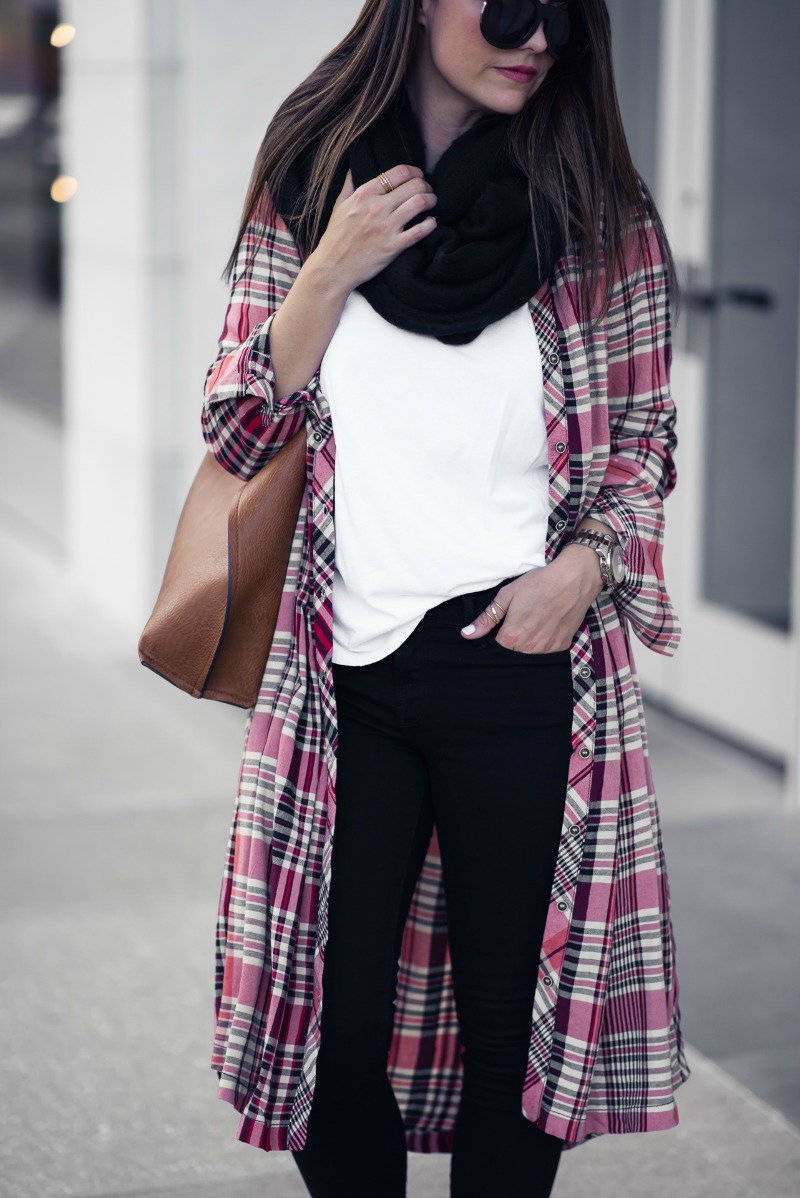 FREE PEOPLE LORALEI PLAID TUNIC SHIRT by Houston fashion blogger The Styled Fox
