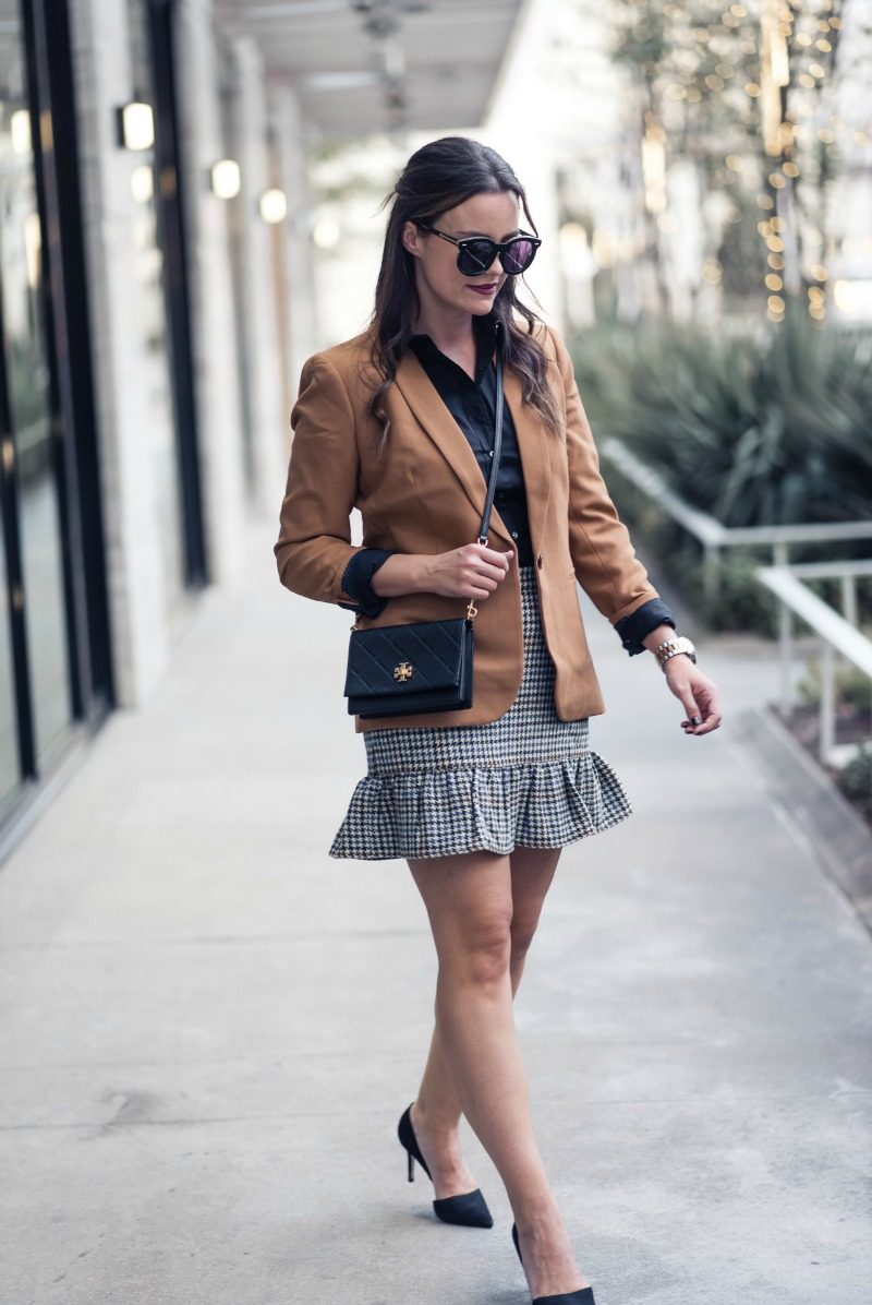 J.CREW RUFFLE MINI SKIRT by Houston fashion blogger The Styled Fox