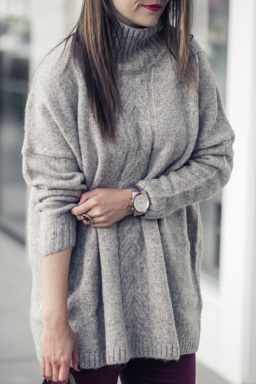 MOCK NECK SWEATER by Houston fashion blogger The Styled Fox
