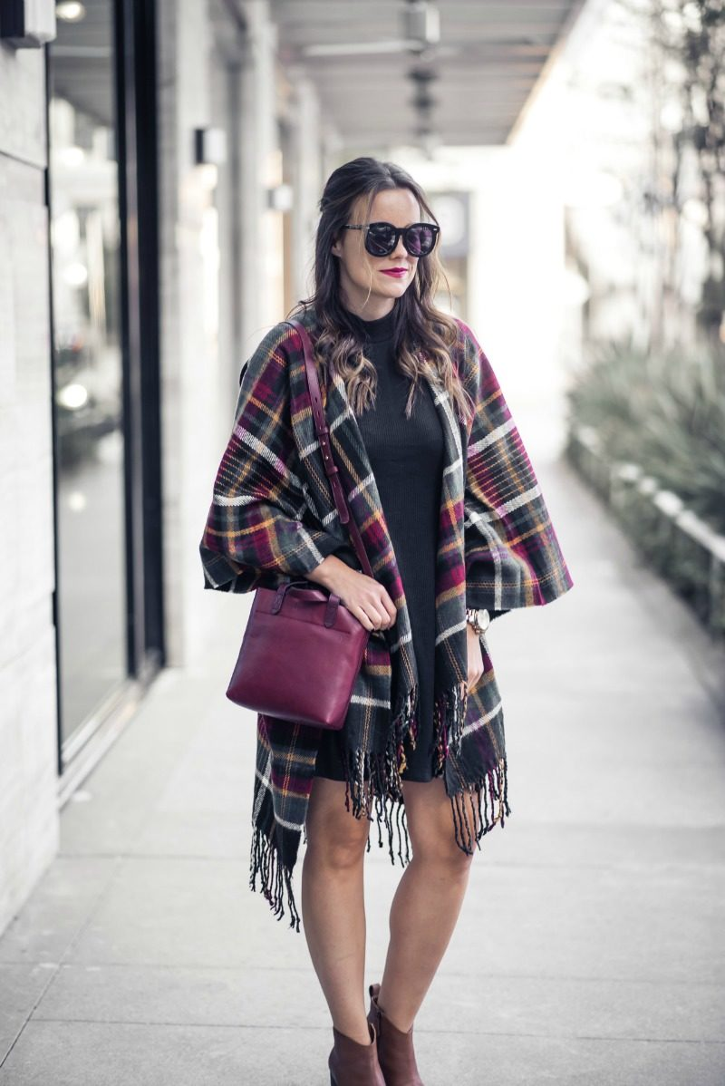 PLAID CAPE by Houston fashion blogger The Styled Fox