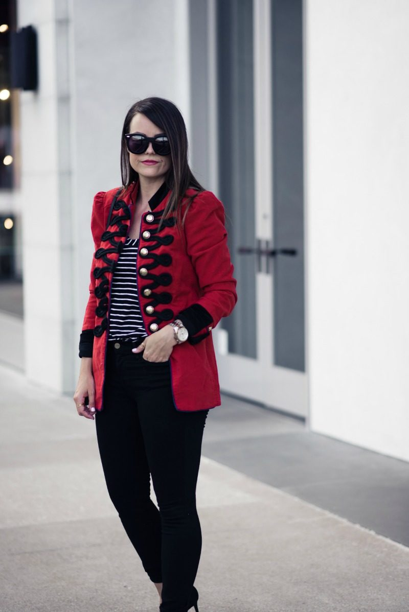 FREE PEOPLE SEAMED AND STRUCTURED BLAZER