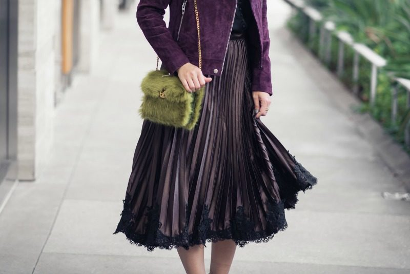 HOLIDAY OUTFIT INSPIRATION, ANTHROPOLOGIE PLEATED LACE HEMED SKIRT - HOLIDAY OUTFIT INSPIRATION: PLEATED LACE HEM SKIRT by Houston fashion blogger The Styled Fox