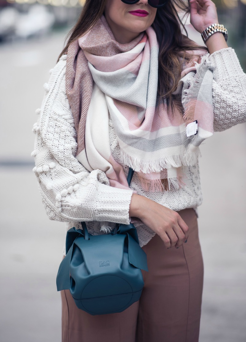 ANTHROPOLOGIE, MOLLY BRACKEN POMMED CABLE SWEATER - POMMED CABLE SWEATER by Houston fashion blogger The Styled Fox