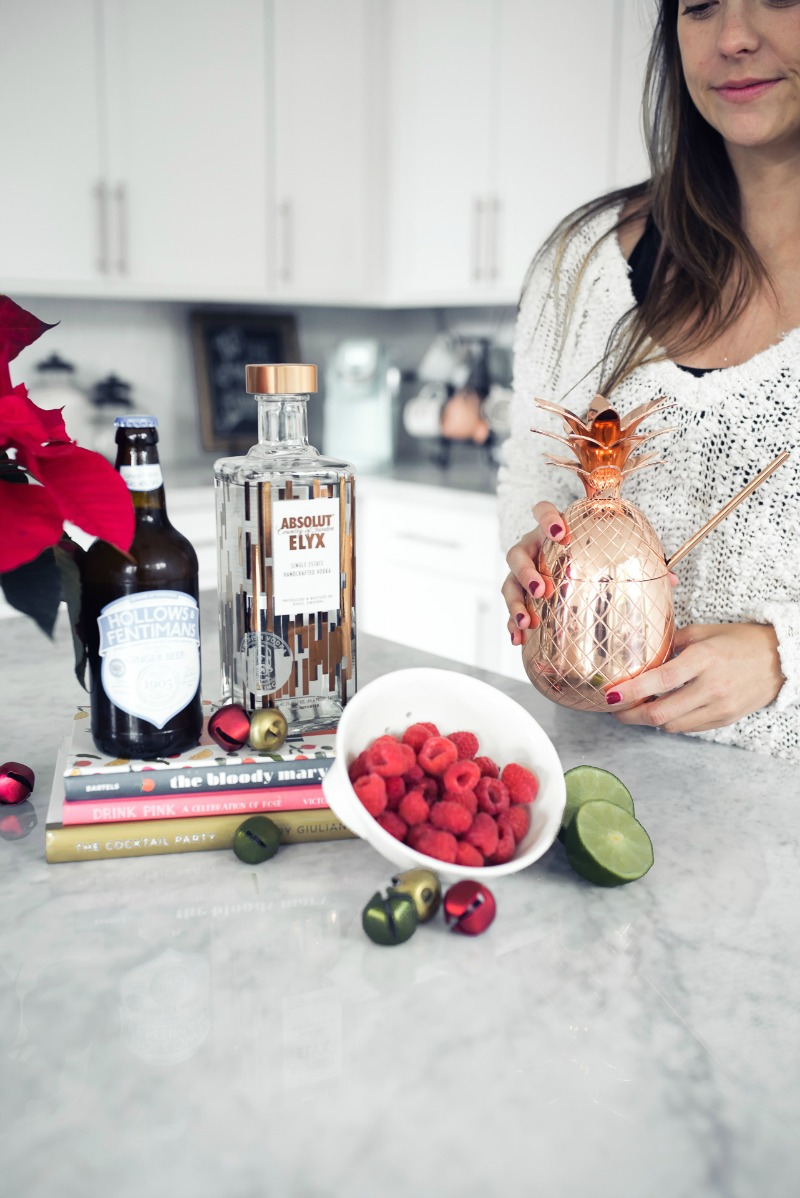 WINTER COCKTAIL RECIPE, ABSOLUT ELYX by popular Houston blogger The Styled Fox
