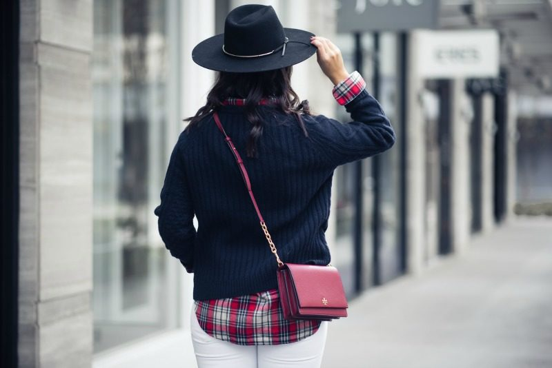 NORDSTROM, J CREW Merino Wool Cable Pom pom Sweater by Houston fashion blogger The Styled Fox
