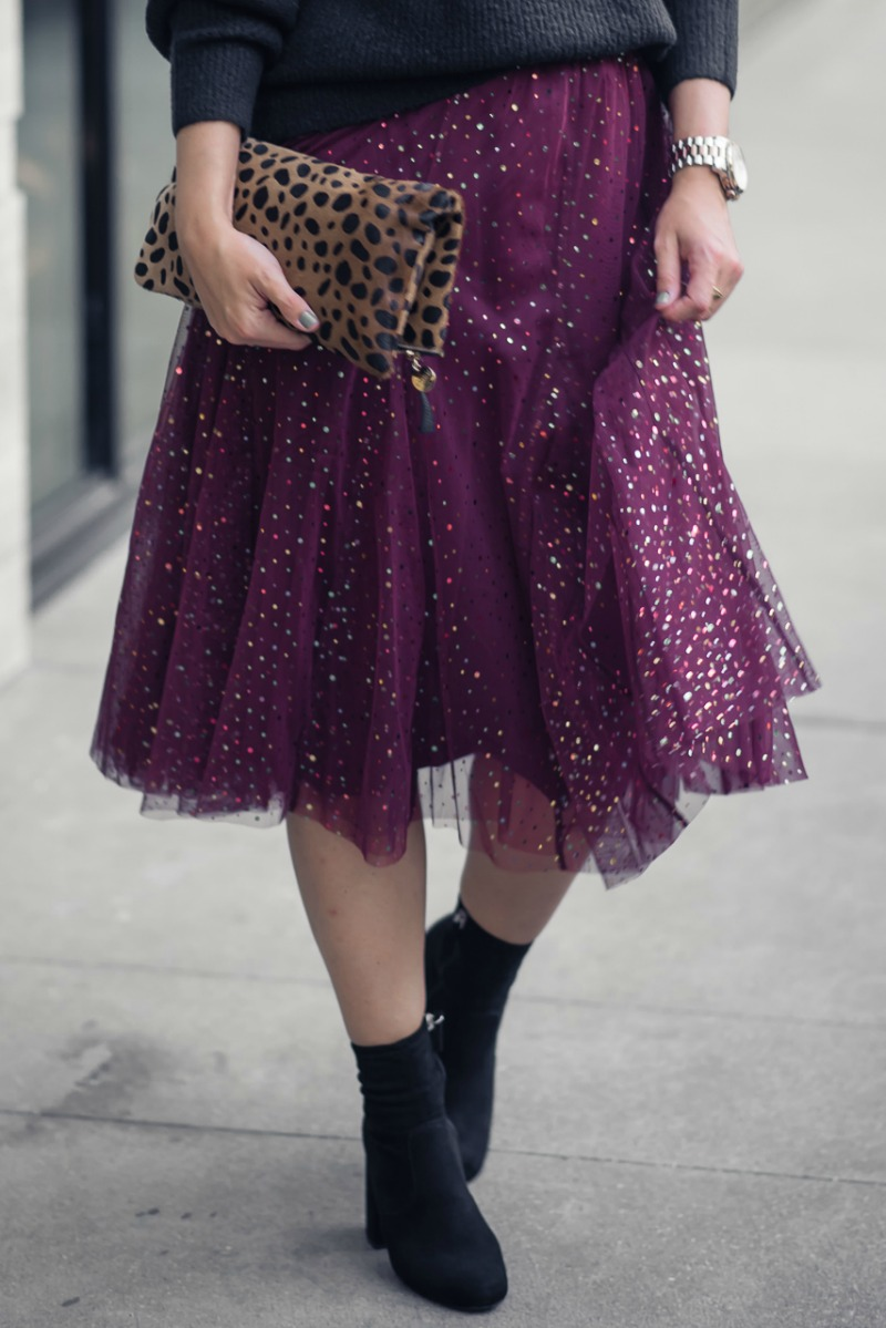 ANTHROPOLOGIE TULLE SKIRT - HOLIDAY OUTFIT INSPIRATION: TULLE SKIRT by Houston fashion blogger The Styled Fox