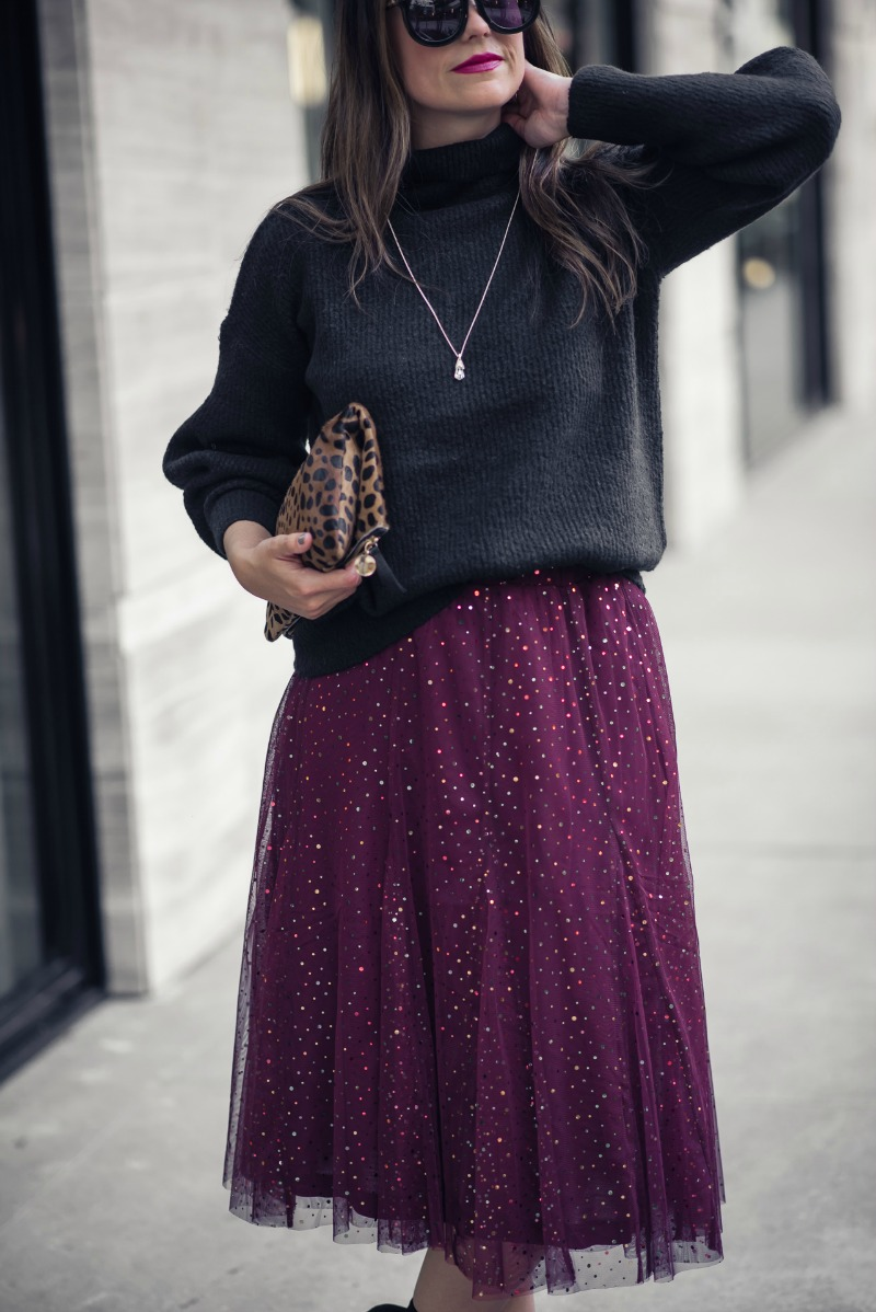 2c365d59a8 ANTHROPOLOGIE TULLE SKIRT - HOLIDAY OUTFIT INSPIRATION: TULLE SKIRT by  Houston fashion blogger The Styled
