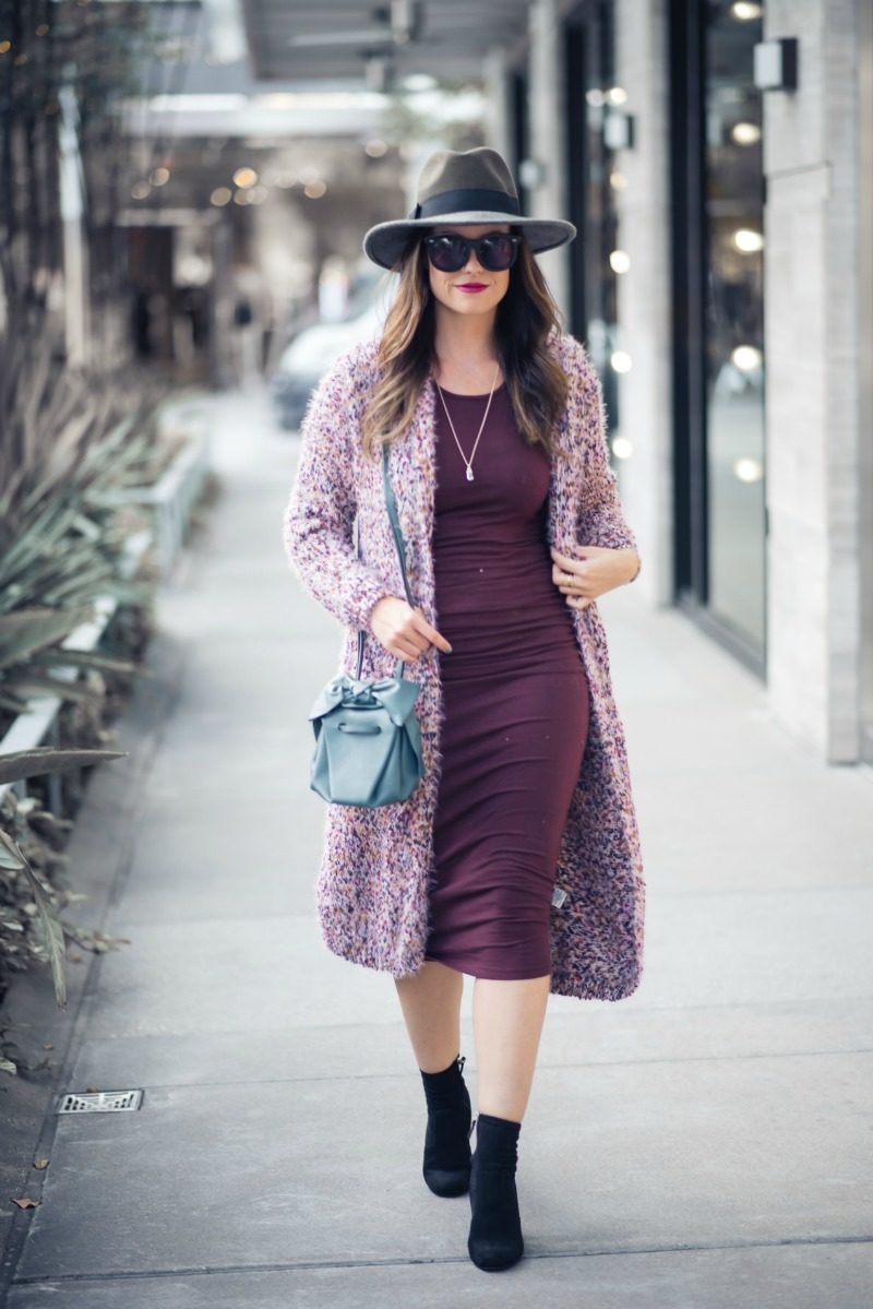 MICHAEL STARS RACERBACK MIDI DRESS by Houston fashion blogger The Styled Fox