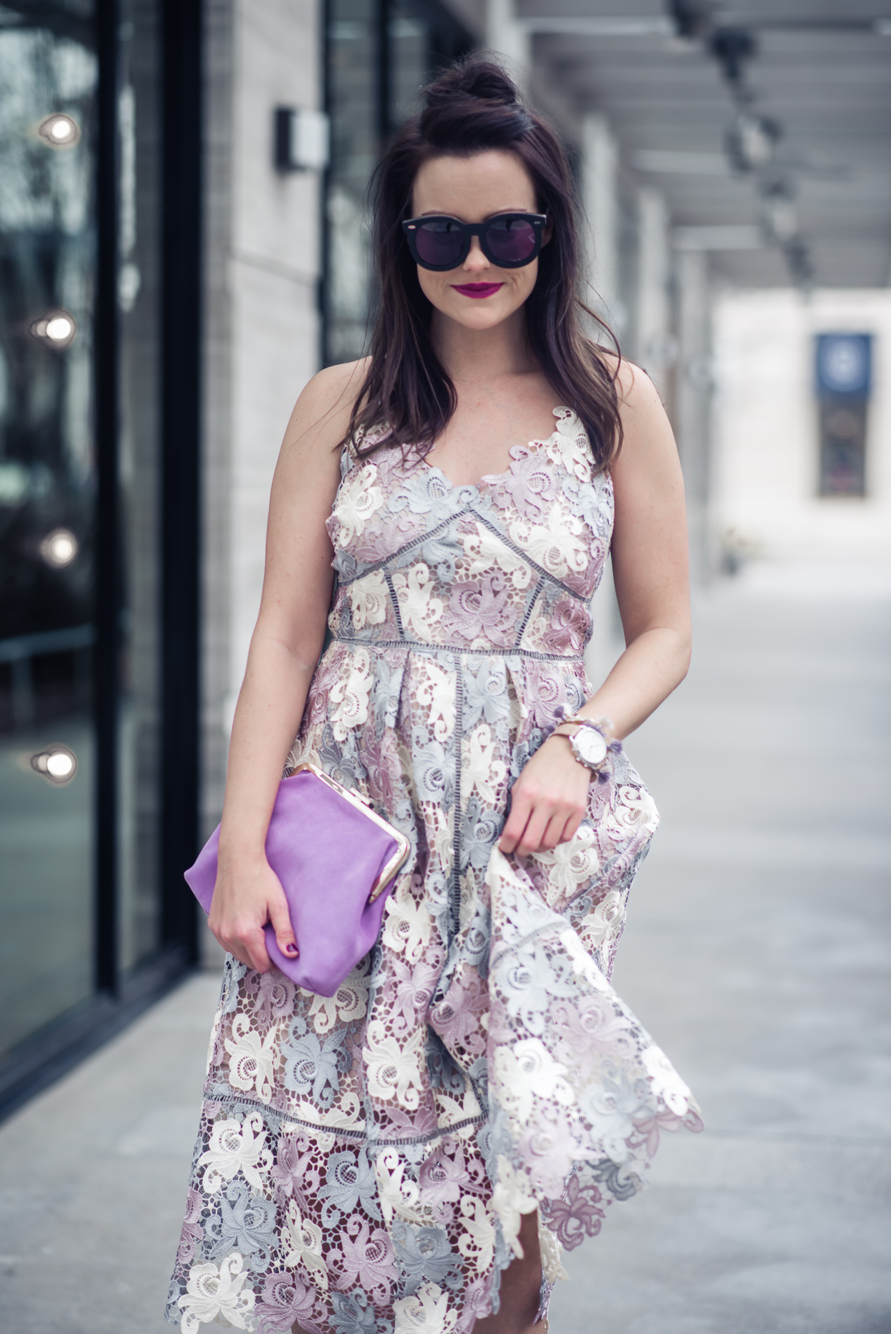 ANTHROPOLOGIE, Eri + Ali EVERLEIGH LACE DRESS - LACE MIDI DRESS by popular Houston fashion blogger The Styled Fox