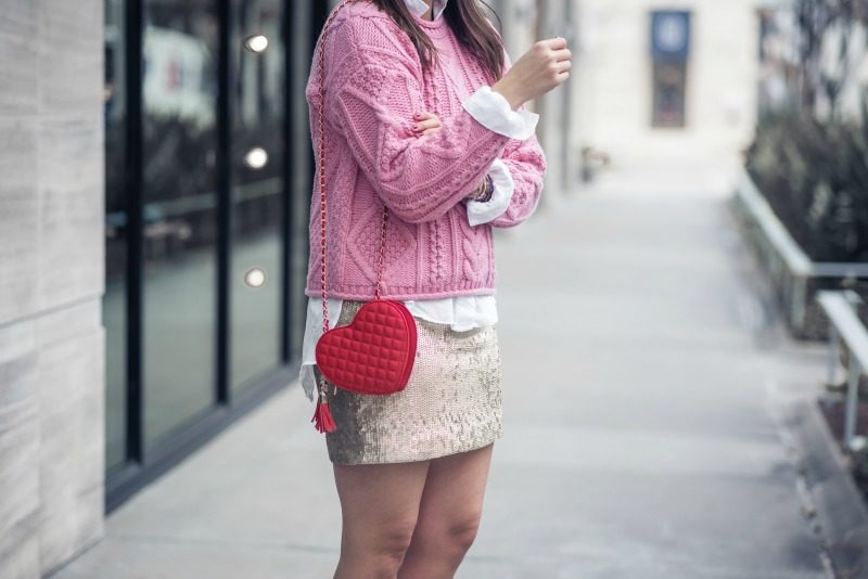 J.CREW SEQUIN MINISKIRT, VALENTINES DAY OUTFIT INSPIRATION by popular Houston fashion blogger The Styled Fox