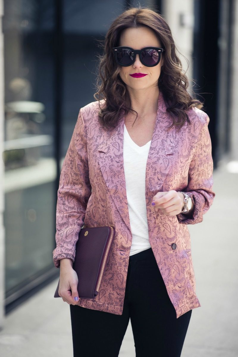 NORDSTROM, FREE PEOPLE JACQUARD BLAZER by popular Houston fashion blogger The Style Fox