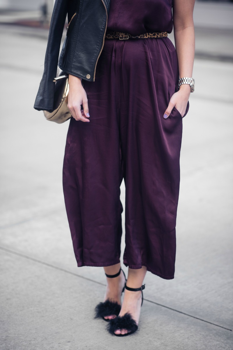 ANTHROPOLOGIE, Lacausa SATIN CROPPED JUMPSUIT by popular Houston fashion blogger The Styled Fox
