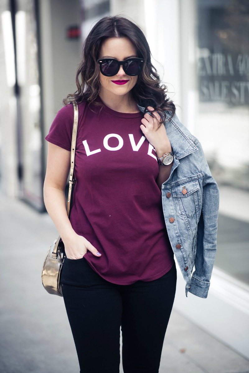 Sol Angeles Love Graphic Tee by popular Houston fashion blogger The Styled Fox