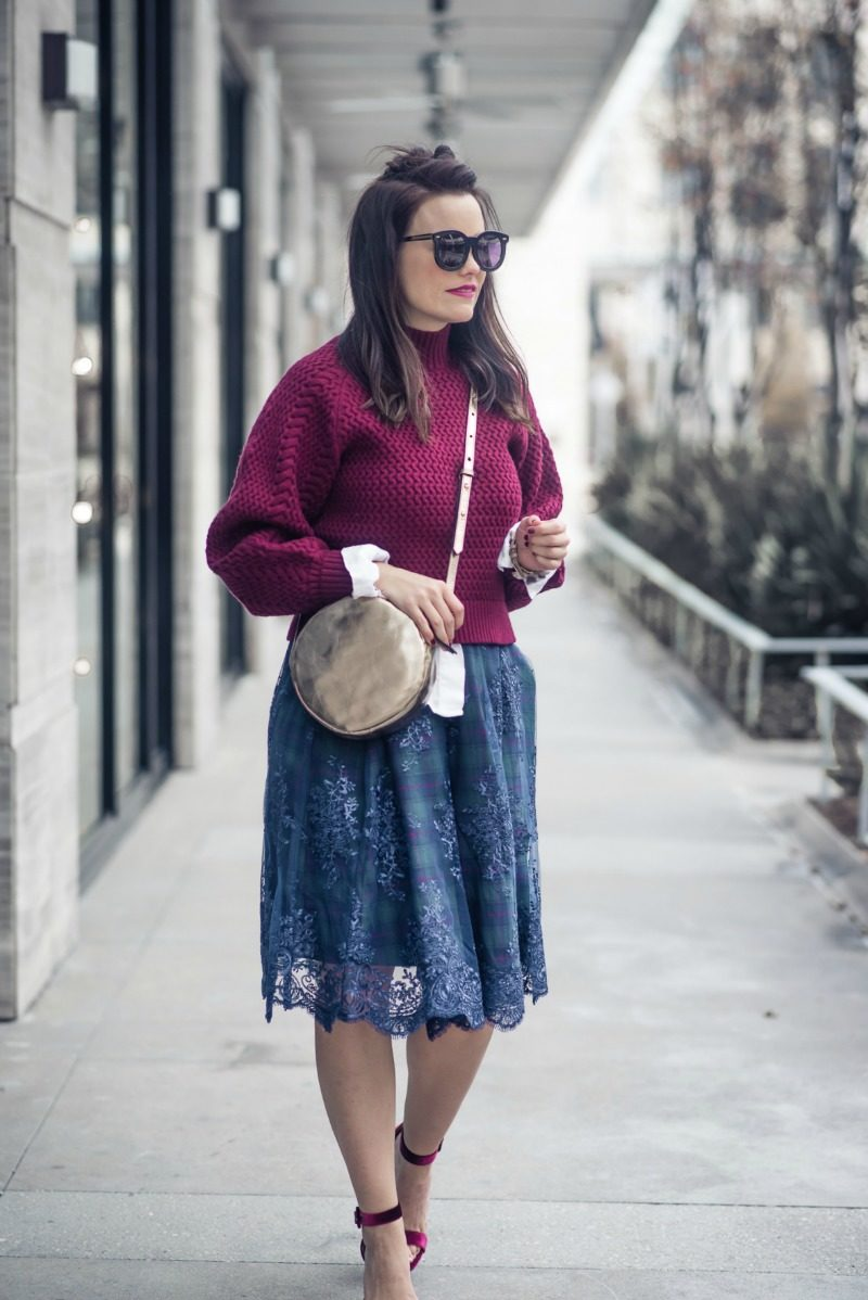 Green Plaid Skirt Anthropologie Fashion The Styled Fox