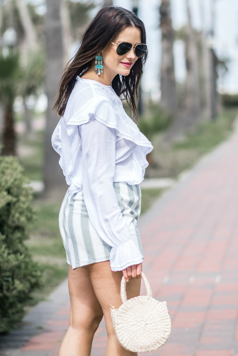 ... Three tones Midi Dress Shelby Abu Tua Daftar Harga. Source · NORDSTROM THE FIFTH LABEL HIGH WAISTED STRIPED SHORTS by popular Houston fashion blogger ...