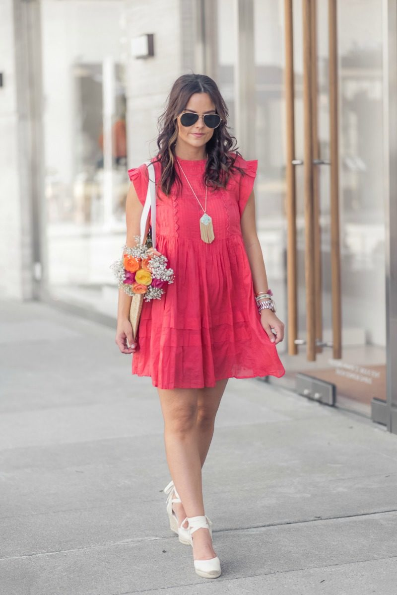 32a611f0380 FREE PEOPLE NOBODY LIKE YOU BABYDOLL MINI DRESS styled by popular Houston  fashion blogger