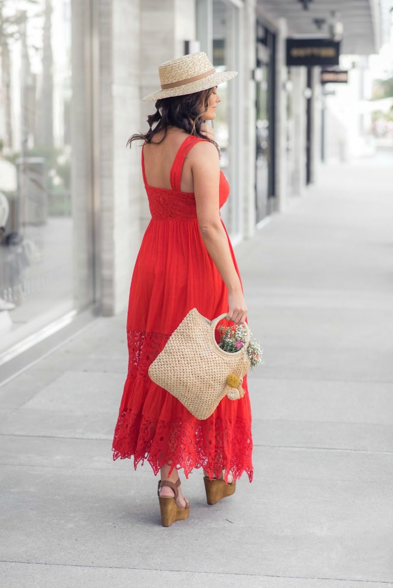 fa56cb78f RED HOT SUMMER, COLOR TRENDS FOR SUMMER, FREE PEOPLE Caught Your Eye Maxi  Dress