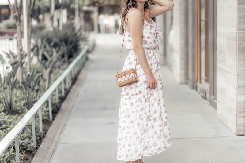 357d00c3188 Abercrombie   Fitch Ruffle Maxi Dress styled by popular Houston fashion  blogger