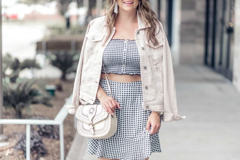 5aad288448f ABERCROMBIE GINGHAM TWO PIECE SET styled by popular Houston fashion blogger