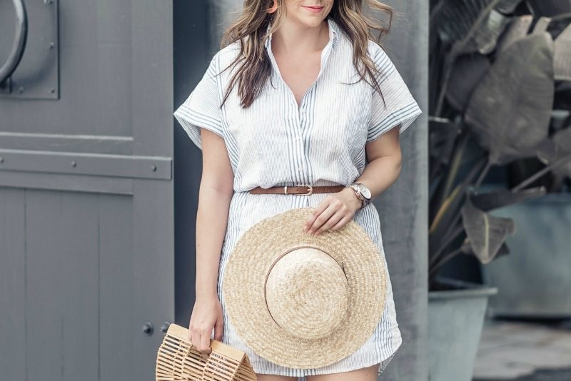 6592eb0fb5d MADEWELL CENTRAL SHIRTDRESS IN RAWLEY STRIPE - HOW TO WEAR A STRIPED SHIRT  DRESS featured by