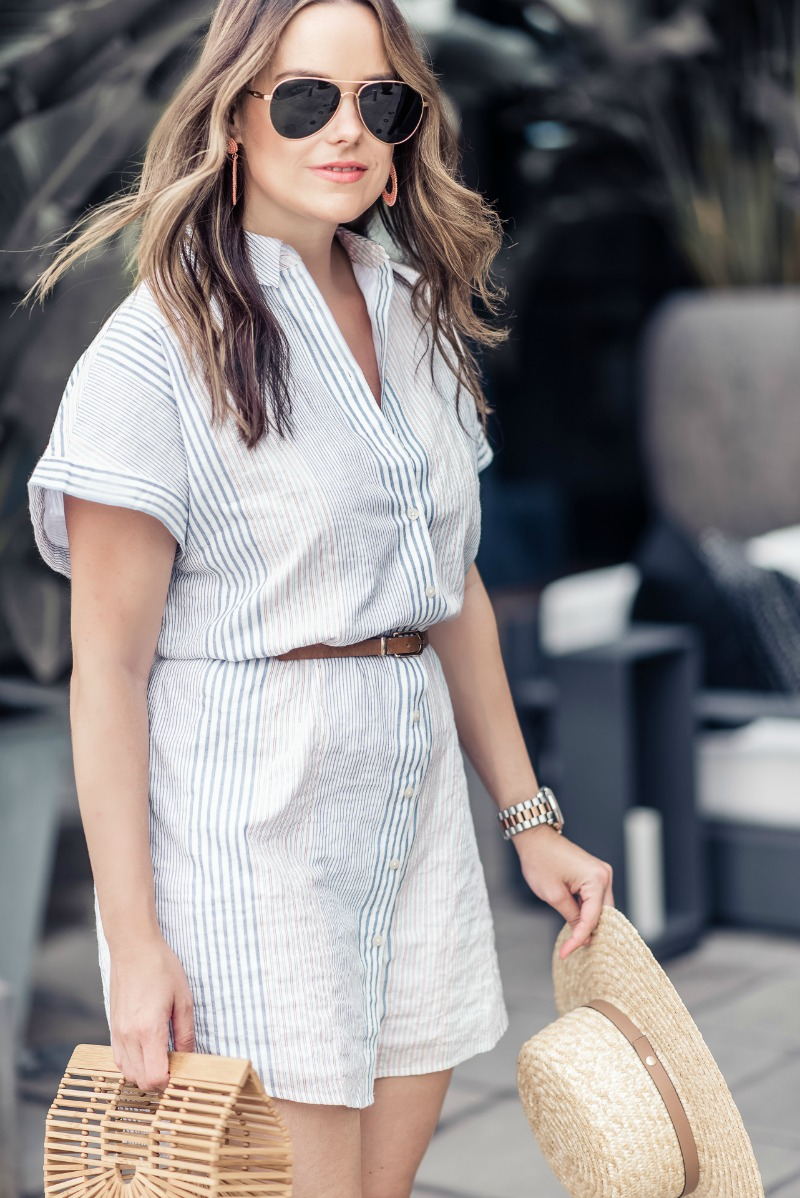 513798bc139 MADWELL CENTRAL SHIRTDRESS IN RAWLEY STRIPE - HOW TO WEAR A STRIPED SHIRT  DRESS featured by