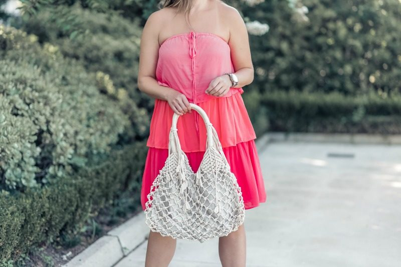 cc324c51809 LOFT Tiered Halter Dress featured by popular Houston full time blogger