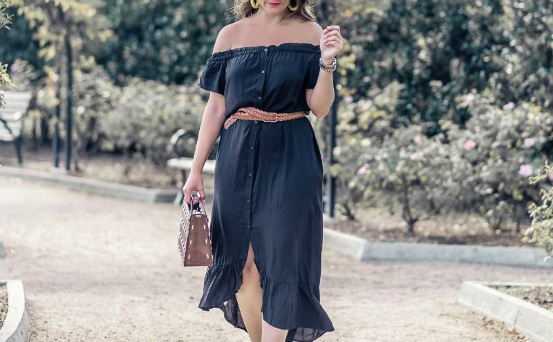 763eddd38f7e6 OFF THE SHOULDER BUTTON DOWN MIDI DRESS - MUST-HAVE LOFT DRESSES featured  by popular