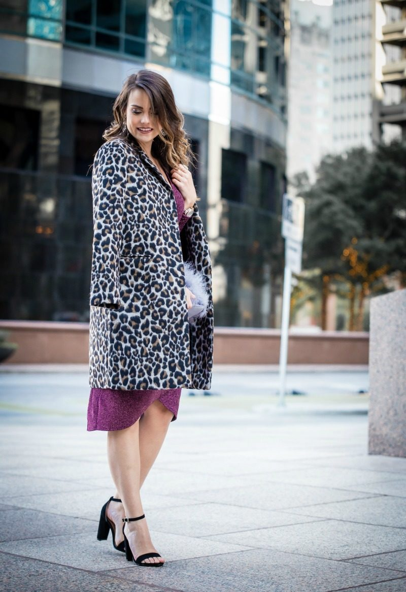 ba91a9dd91b cupcakes and cashmere Leopard Belted Trench Coat  11 cute fall outfits to  transition into colder
