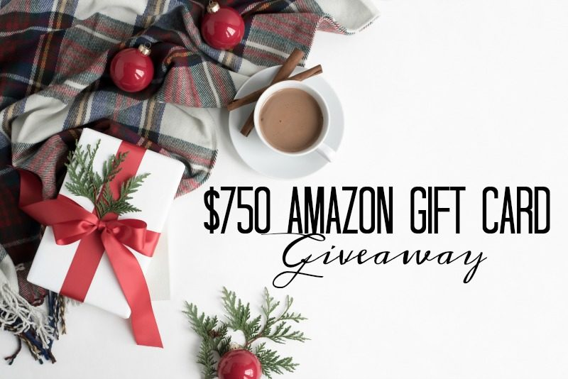 Holiday Giveaway! You Could Win a $750 Amazon Gift Card!