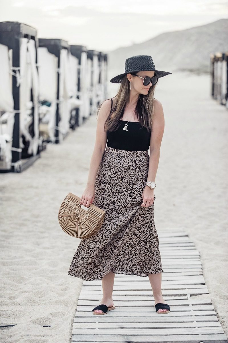 2af8eccf1 Reformation leopard midi skirt styled by top US fashion blog, The Styled  Fox: image